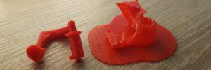 gedruckte Überhänge im 3D-Druck