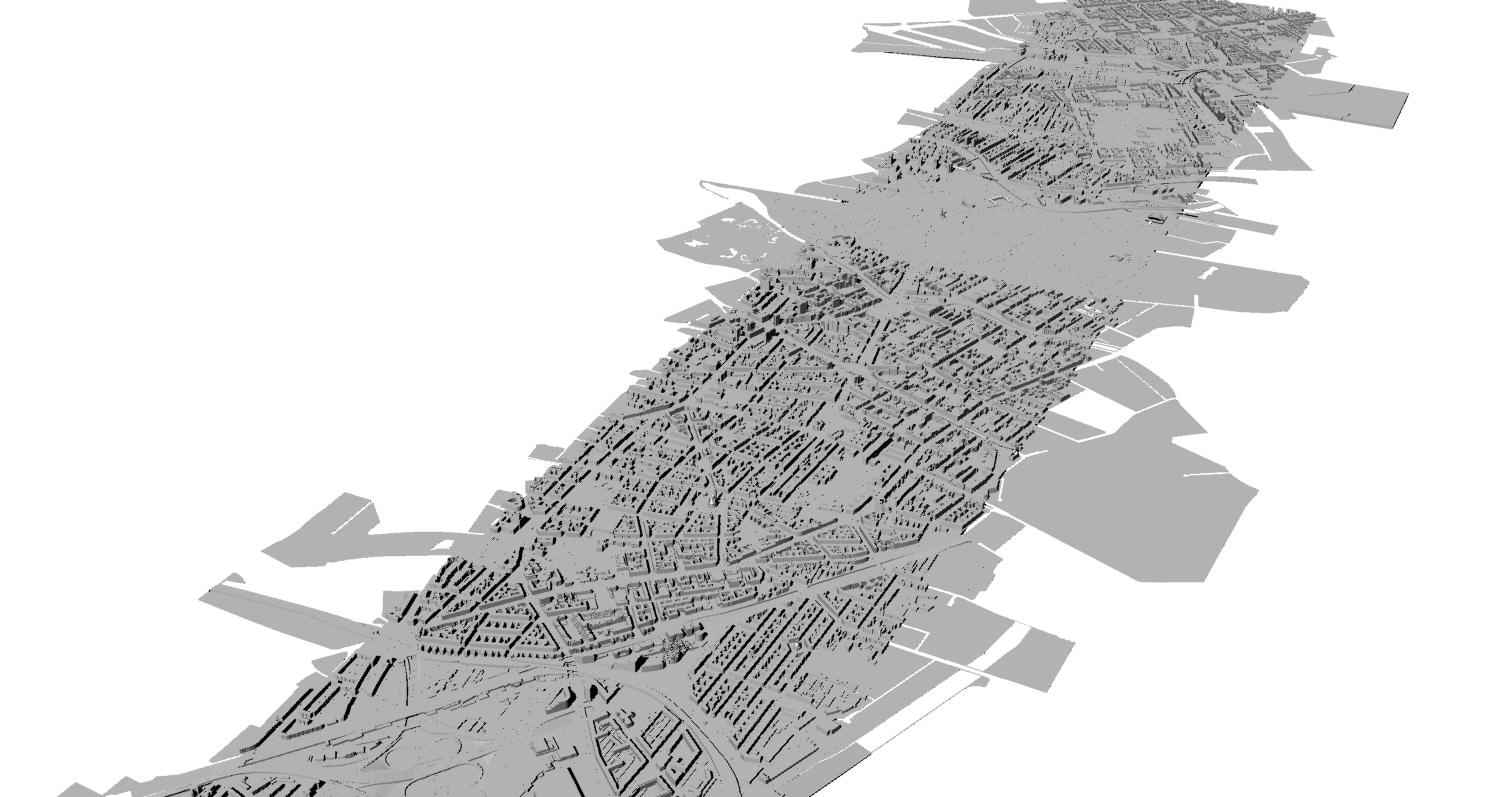 Digitale 3D-Karte von Berlin - Rohdaten