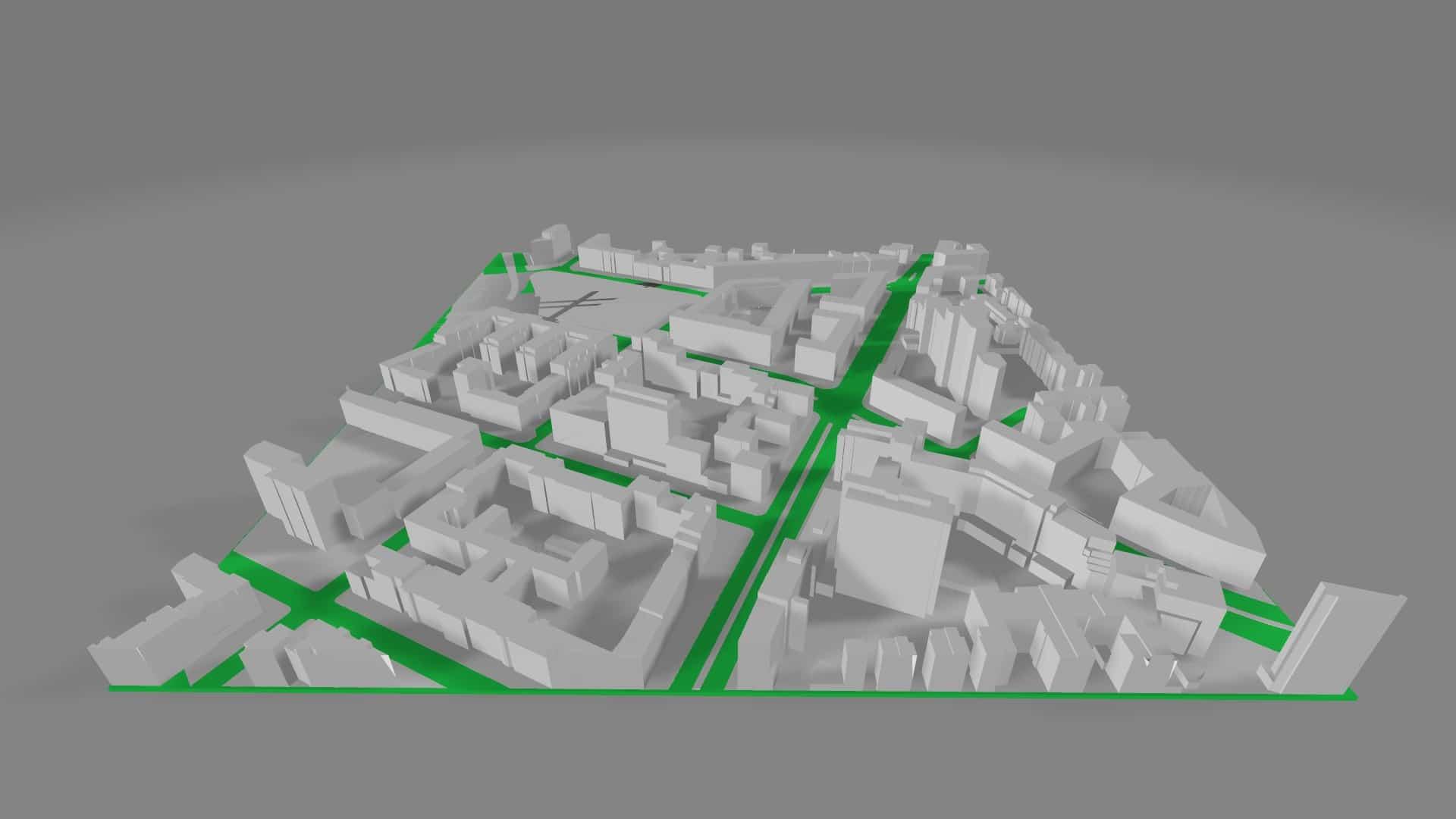 Kleiner 3D-Kartenausschnitt