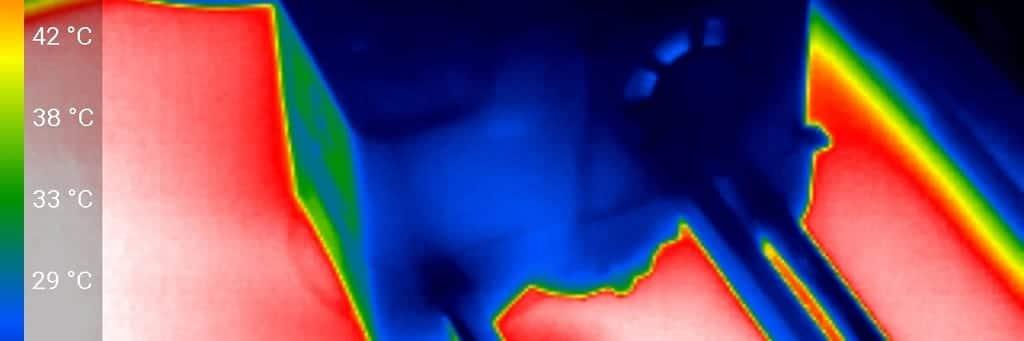 Wärmebild des Druckkopfs