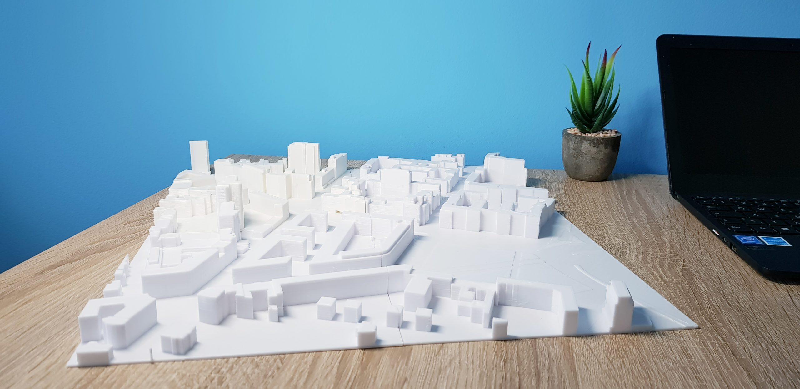 Großes Architekturmodell 3D-Druck