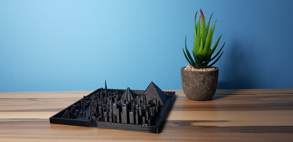 Kleines Stadtmodell 3d-gedruckt