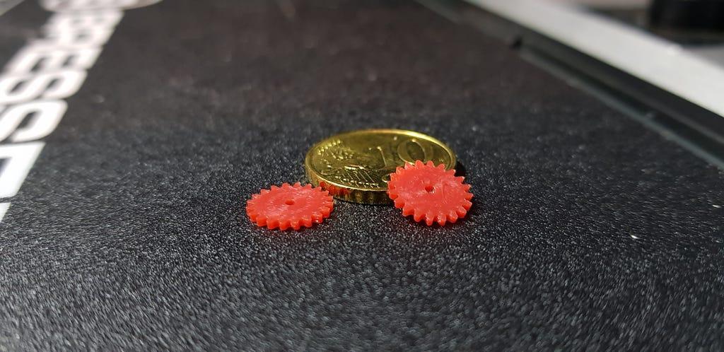 Hochpräzisions 3D-gedruckte Zahnräder