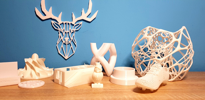 unterschiedliche Beispiele für 3D-Druck