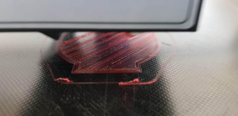3D Druck Beispiels schlechte Druckplattenhaftung